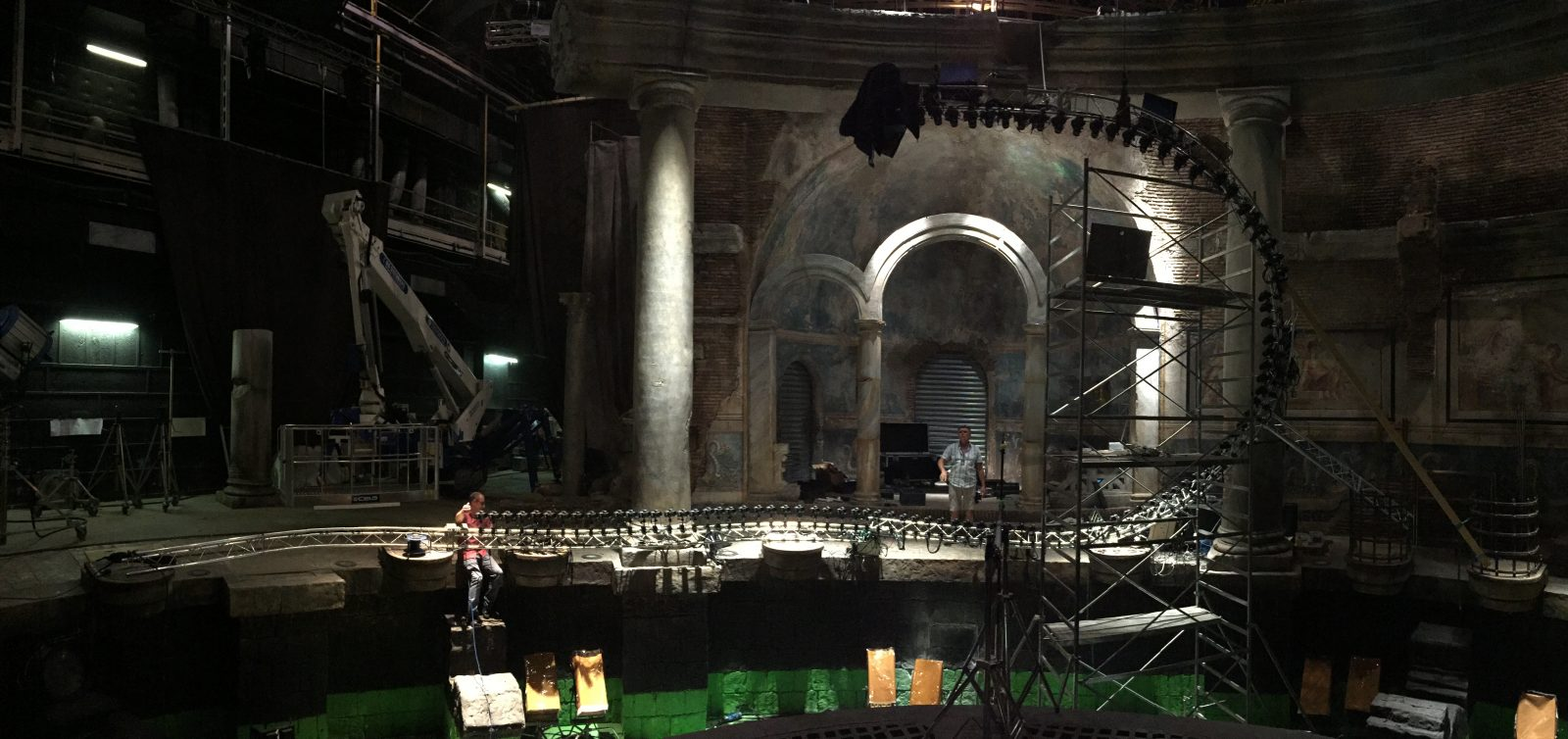 Zoolander 2 movie set with our Production Bullet Time Rig