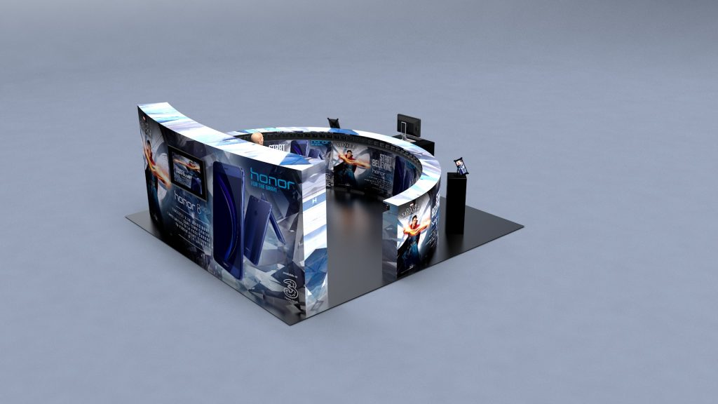3D exhibition stand and time slice array by NWD