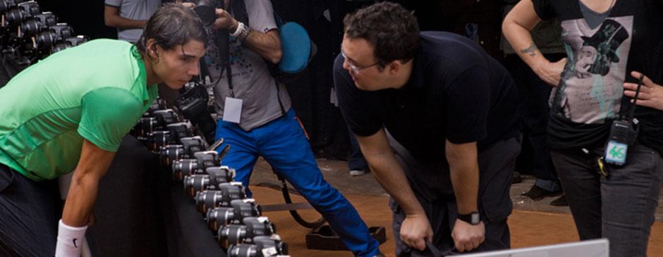 Rafael Nadal 80 camera rig