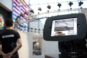 Data capture Tablet used on the experiential bullet time software