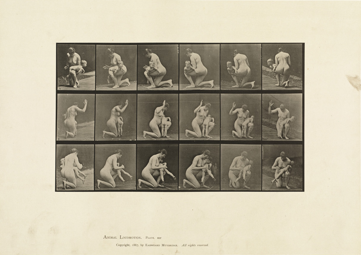 Eadward James Muybridge, 'Spanking A Child' Animal_locomotion. Plate_527