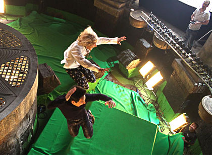 Zoolander 2 action shot in front of bullet time