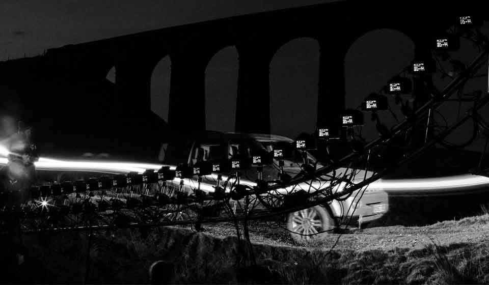 Land Rover shoot with bullet time rig