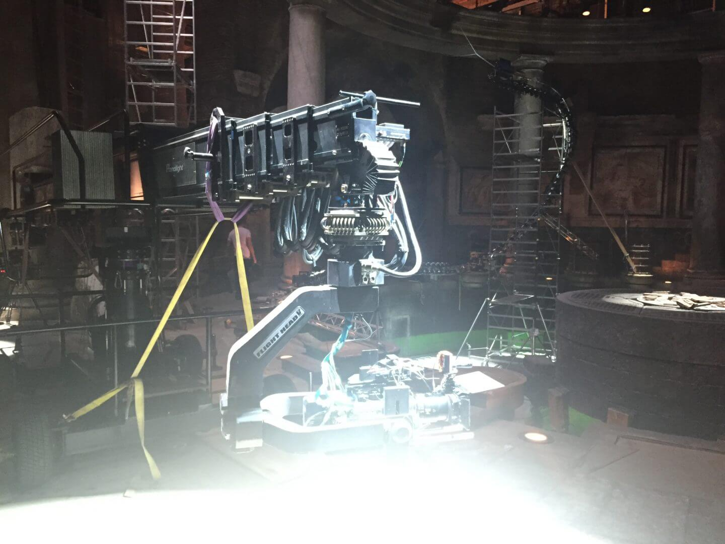 Bullet Time system on set at Zoolander 2 studio