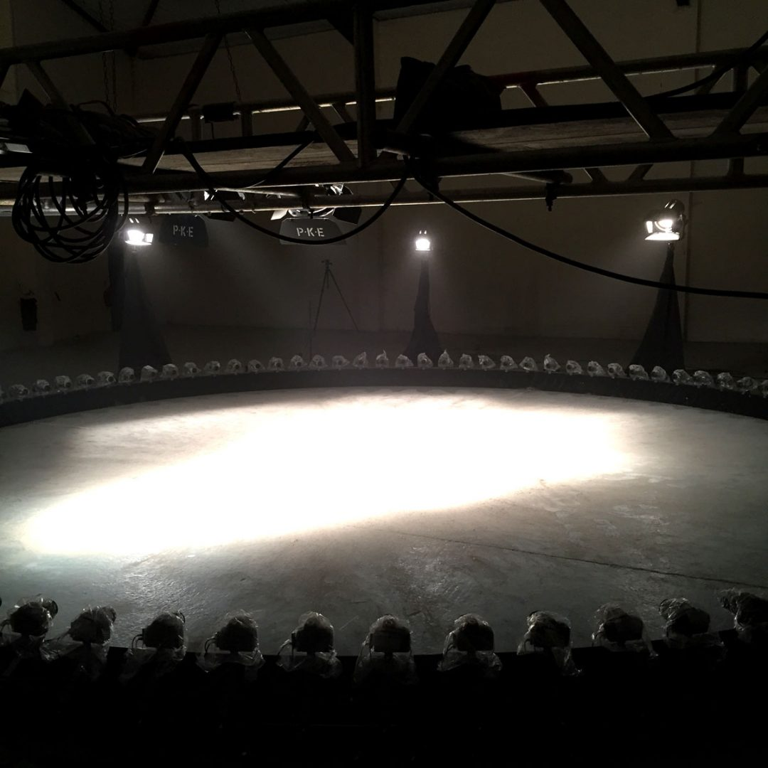Behind the scenes at Sophie Clements production bullet time shoot