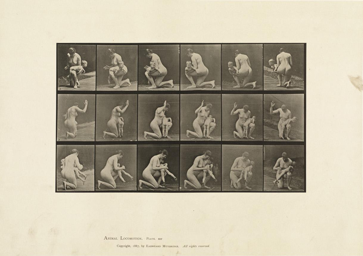 Eadward James Muybridge, 'Spanking A Child' Animal_locomotion. Plate_527