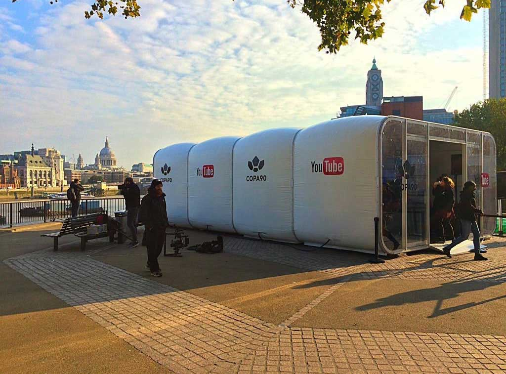 YouTube experiential pod in London