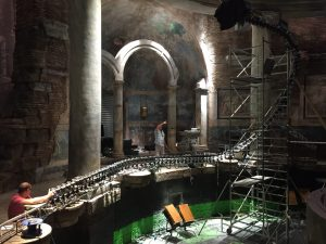 Bullet time rig in Italy for Zoolander 2 scene