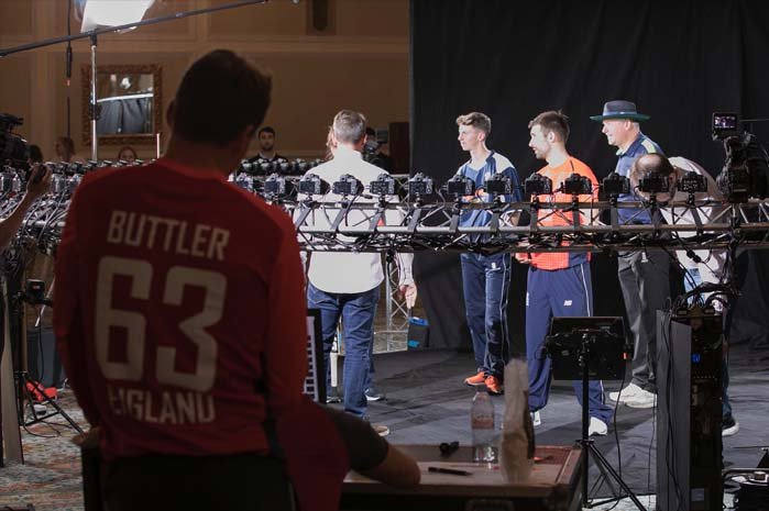 Behind the scenes at Cricket bullet time job
