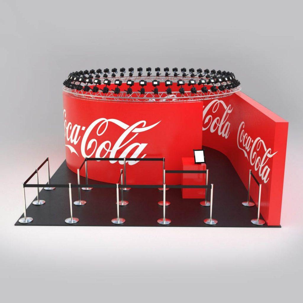 360 coca cola branded camera array example